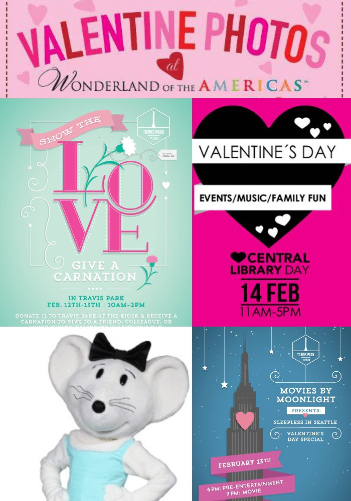 Valentine's Day celebrations in San Antonio for kids, families, friends, and couples