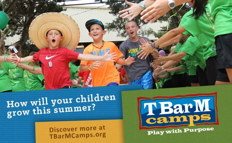 T Bar M summer camps for kids in Texas