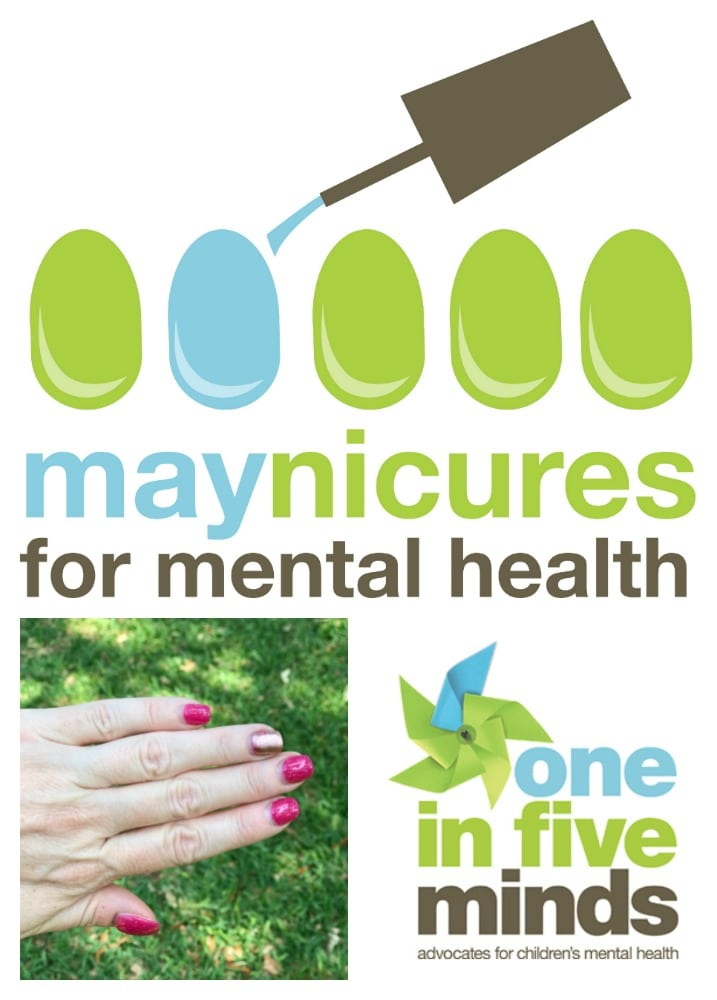 Maynicures brings awareness to: One in Five Minds. One in every five kids suffers from mental illness.