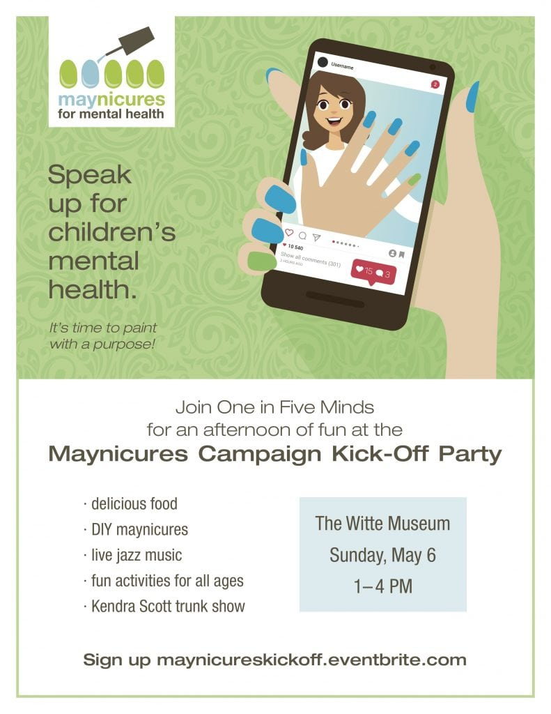 #Maynicures kick off party at the Witte Museum on May 6, 2018